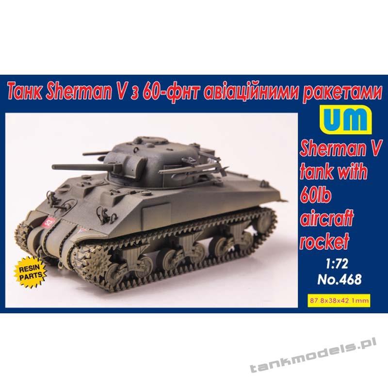 Sherman V tank with 60lb aircraft rocket - Unimodels 468