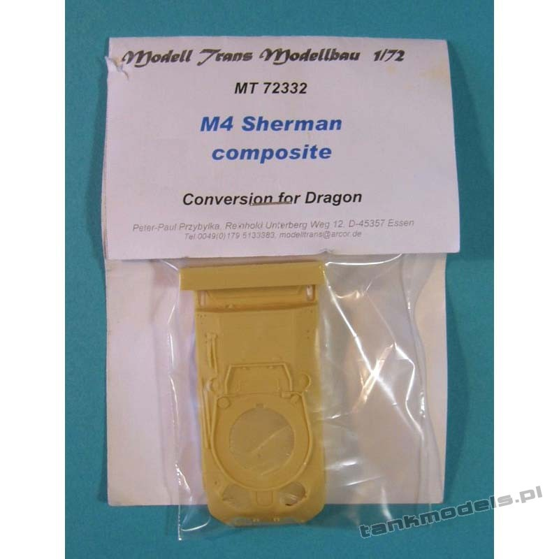 Sherman M4 Composite (conv. for Dragon) - Modell Trans 72332