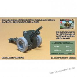 Poprawione koła Michelin DS do Polskiej haubicy Skoda 100mm (FTF model) - Tank Models 72003