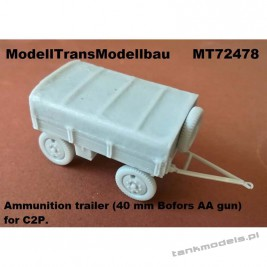 Ammunition trailer (40 mm Bofors AA gun) for C2P - Modell Trans 72478