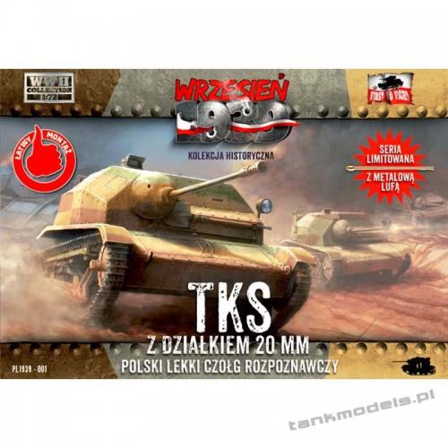TKS z działkiem 20mm (metalowa lufa) - First To Fight PL1939-01 LE