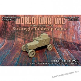 Ford Tf-b 1920 armoured car - Greenminiatures 72005-WG