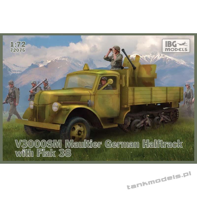 Ford V3000 SM Maultier German Halftrack with Flak 38 - IBG 72075