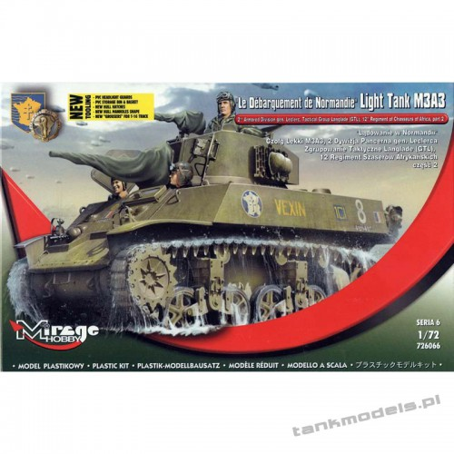 """M3A3 Stuart """"Le Armored Division gen. Leclerc (GTL) - Mirage Hobby 726066"""