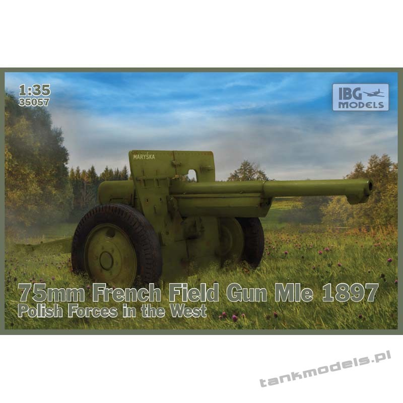 Schneider 75mm Mle 1897 French Field Gun Polish Forces in the West - IBG 35057