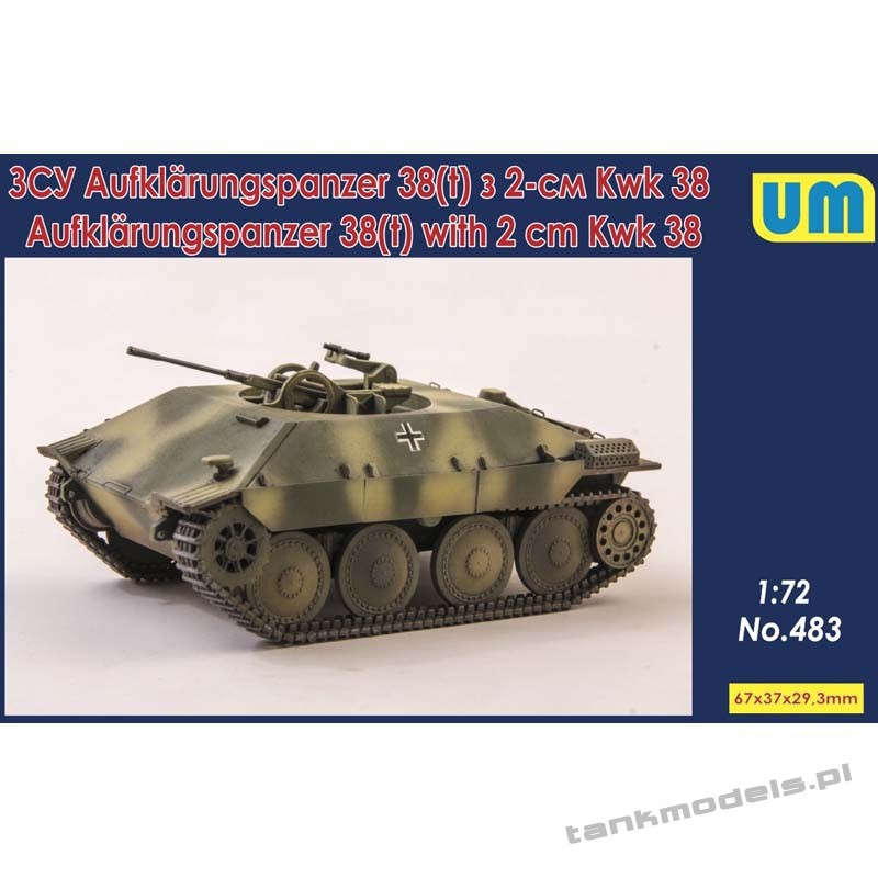 Aufklarungspanzer 38(t) with 2cm Kwk38 - Unimodels 483