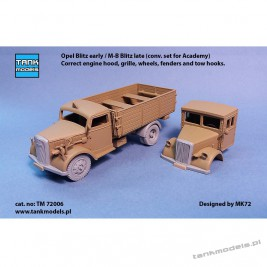 Opel Blitz early / M-B Blitz late (conv. set for Academy) - Tank Models TM 72006