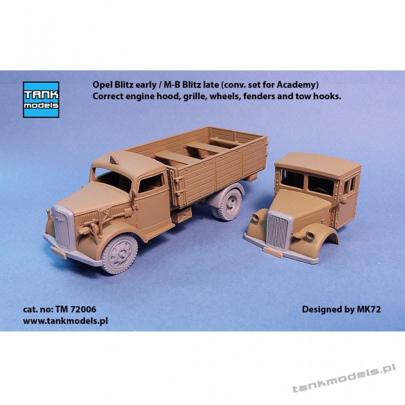 Opel Blitz early / M-B Blitz late (conv. set for Academy) - Tank Models TM 72006