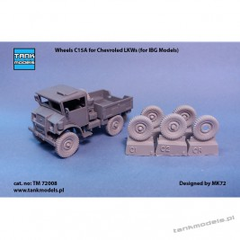 Wheels for Chevrolet C15A/C30A from IBG - Tank Models TM 72008