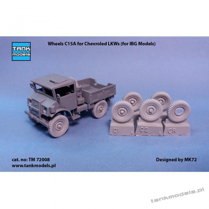 Wheels C15A for Chevrolet (for IBG) - Tank Models TM 72008
