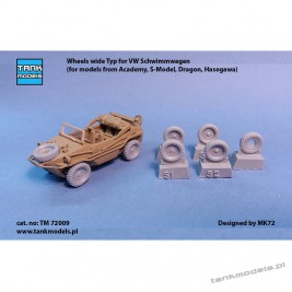 Wheels for VW Schwimmwagen wide Typ - Tank Models TM 72009