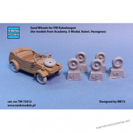 Sand-Wheels for VW Kubelwagen - Tank Models TM 72012