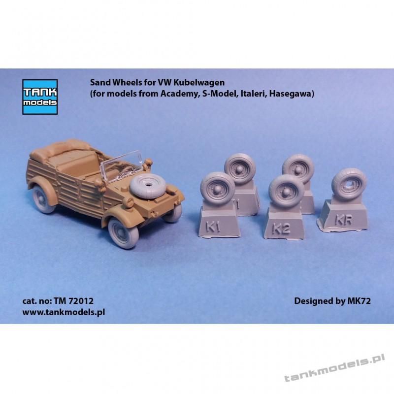 Sand-Wheels for VW Kubelwagen - Tank Models TM 72012