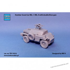 Humber Mk. I / Mk. II Scout Car with double Bren gun - Tank Models TM 72016