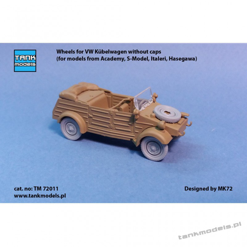 Wheels for VW Kübelwagen without caps - Tank Models TM 72011