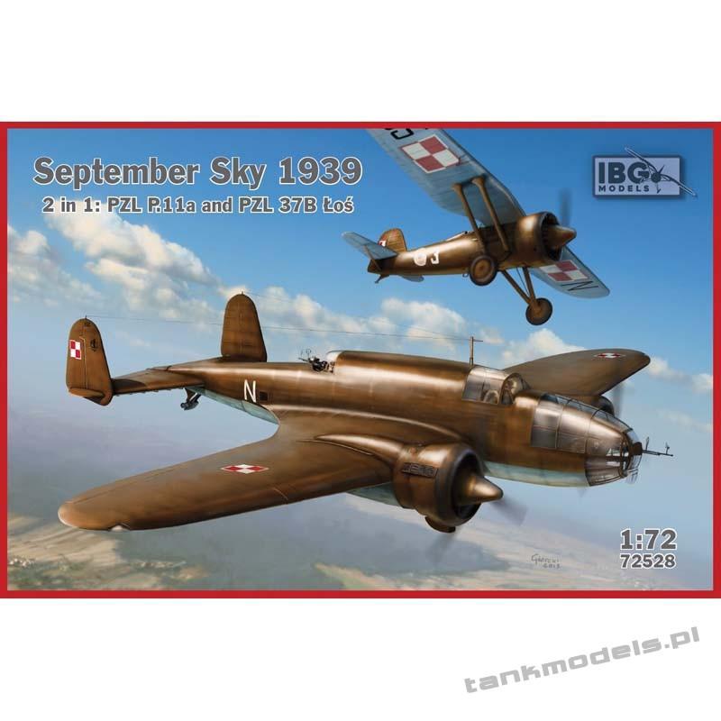 September Sky 1939: PZL P.11a and PZL 37B Łoś (set 2in1) - IBG 72528