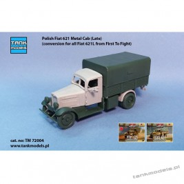 Polish Fiat 621L Metal Cab late w/fenders (conv. for FTF model) - Tank Models 72004