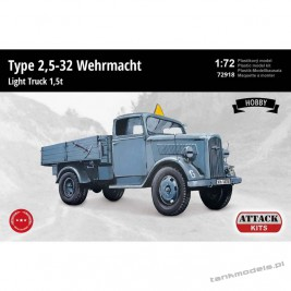 Opel-Blitz Type 2,5-32 Wehrmacht Light Truck 1,5 t (Hobby Line) - Attack 72918