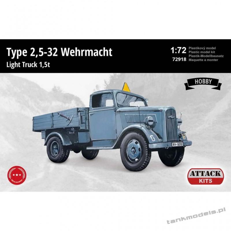 Opel-Blitz Type 2,5-32 Wehrmacht Light Truck 1,5 t (Hobby Line) - Attack 72918