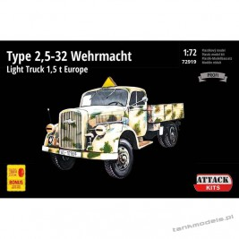 Opel-Blitz Type 2,5-32 Wehrmacht Light Truck 1,5 t Europe (Profi Line) - Attack 72919