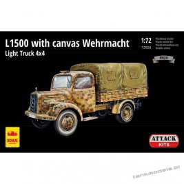 M-B L1500 with canvas Wehrmacht Light Truck 4x4 (Profi Line) - Attack 72920