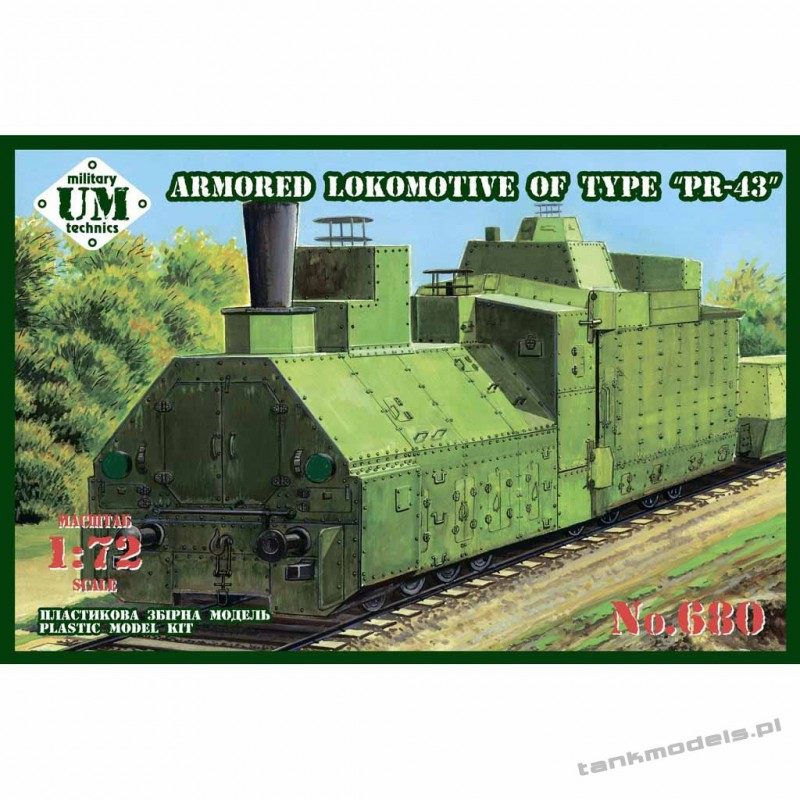 "Armored Lokomotive of type ""PR-43"" - Unimodels 680"