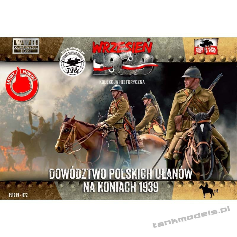 HQ Polish Uhlans on horses 1939 - First To Fight PL1939-72