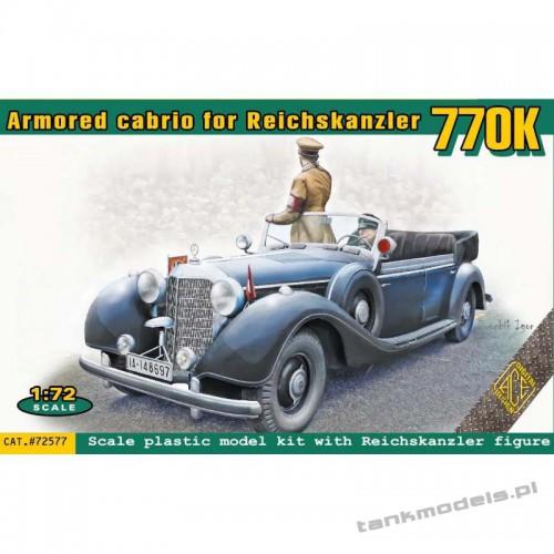 M-B Typ 770K Offener Tourenwagen armoured cabriolet for Reichskanzler w/figurines - ACE 72577