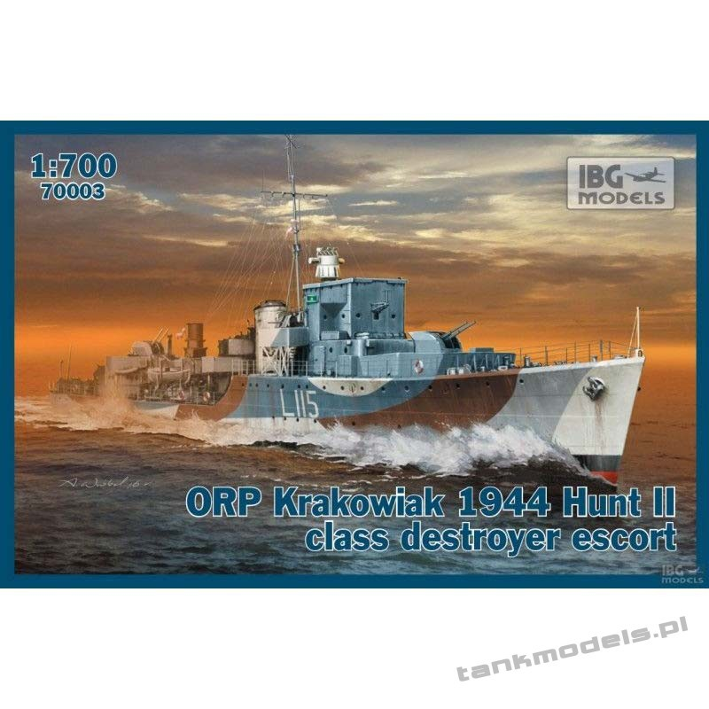 ORP Krakowiak 1944 Hunt II class destroyer escor - IBG 70003