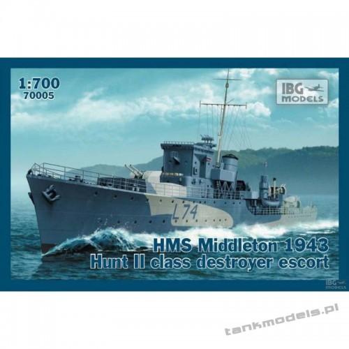 HMS Middleton 1943 Hunt II class destroyer escort - IBG 70005