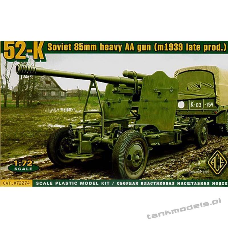52-K 85mm Soviet Heavy AA gun (late version) - ACE 72274
