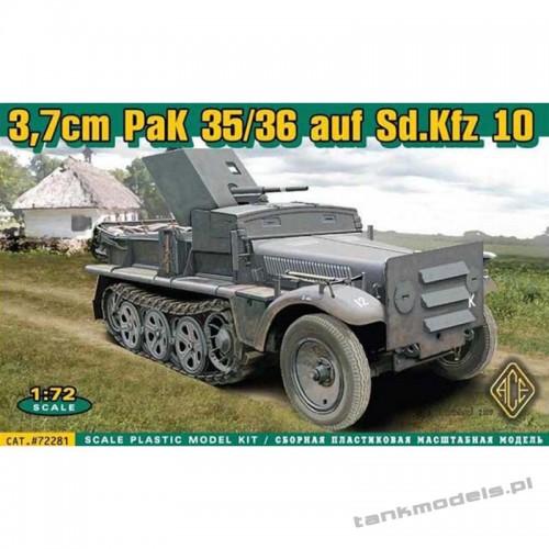 37mm PaK 35/36 auf Sd.Kfz 10 - ACE 72281