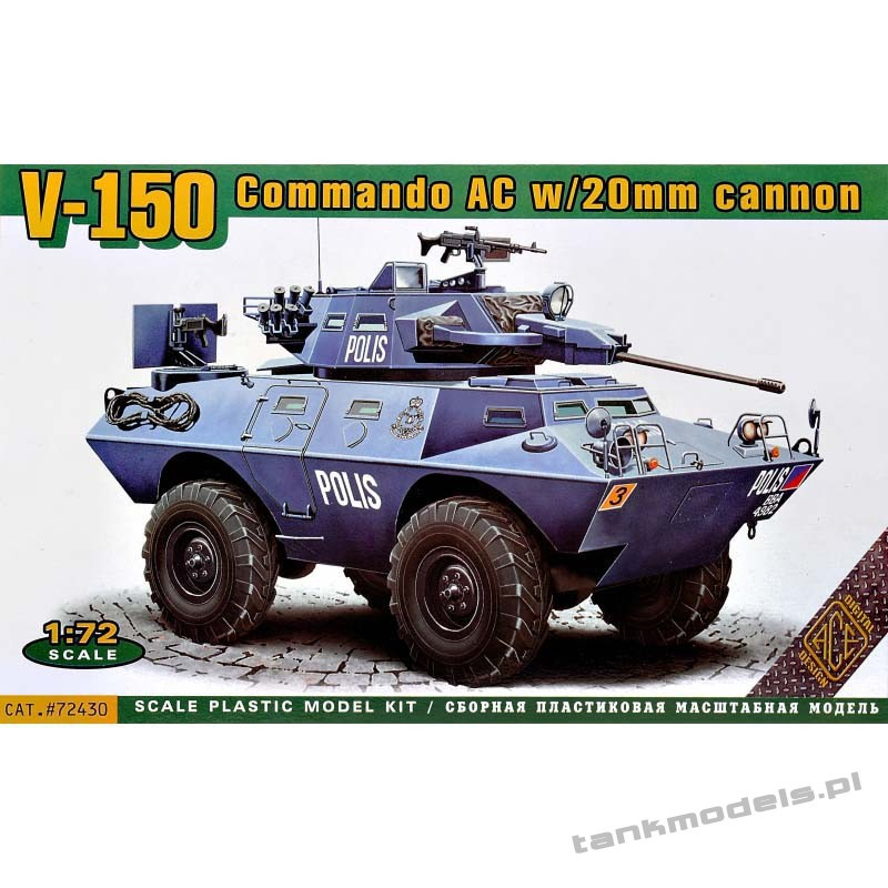 V-150 Commando Car (20mm or 90mm gun) - ACE 72430