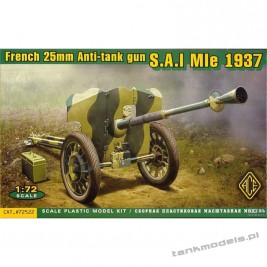 French 25mm AT gun S.A.L. MlE 1937 - ACE 72522