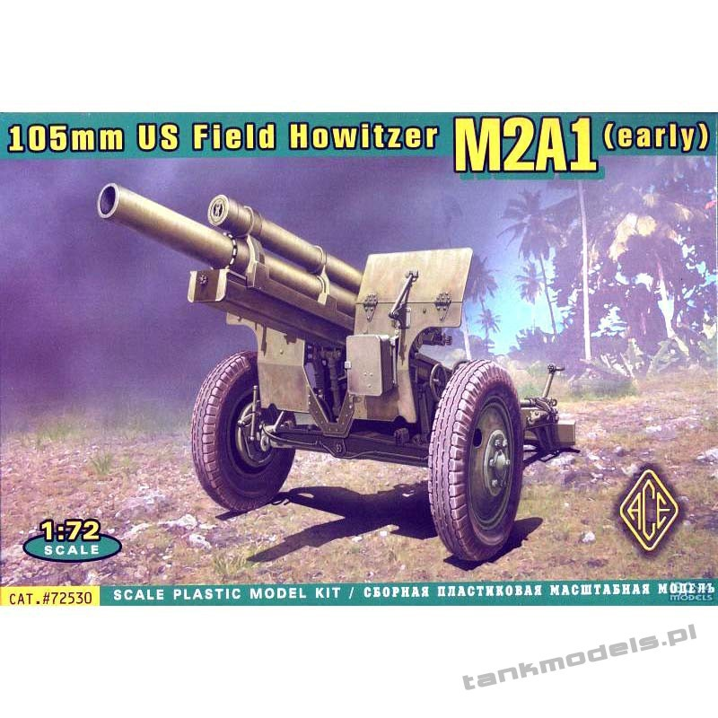 US 105mm Howitzer M2A1 w/M2 Gun Carriage - ACE 72530