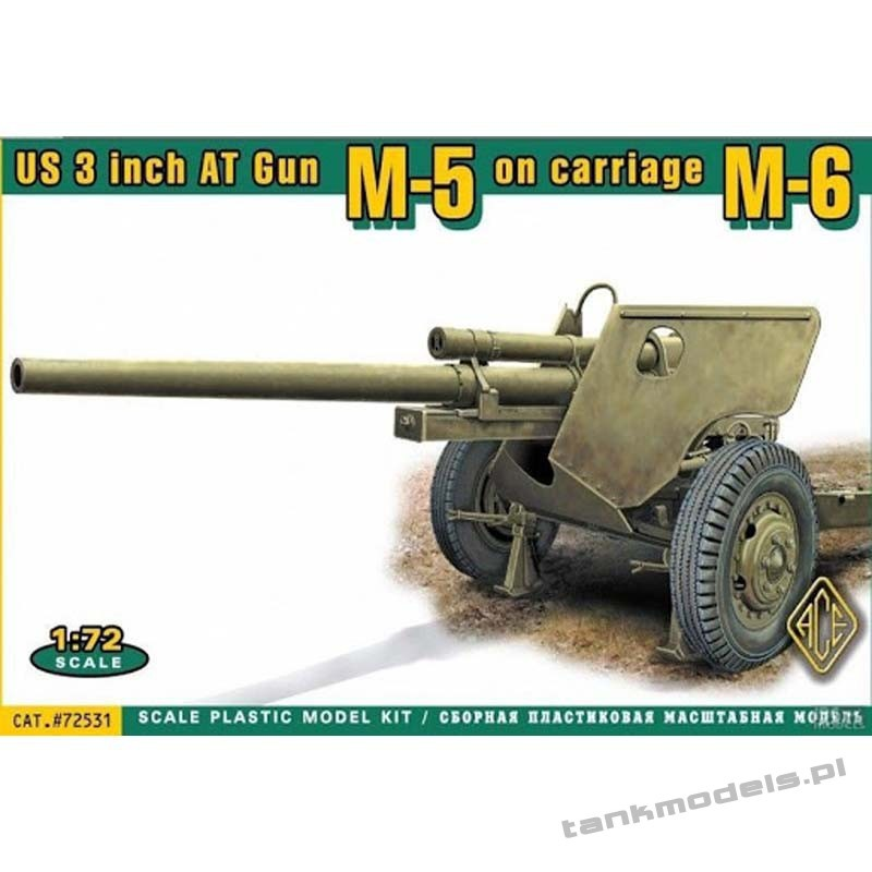 US 3 inch AT Gun M5 on carriage M6 (late) - ACE 72531