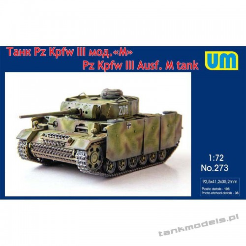Panzer III Ausf M with protective screen - Unimodels 273