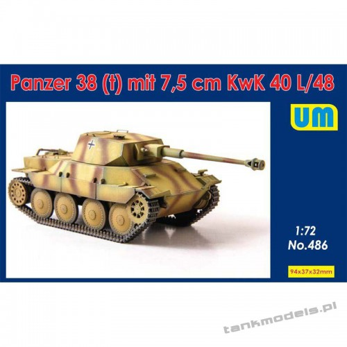 Panzer 38(t) mit 7.5 cm KwK 40L/48 - Unimodels 486