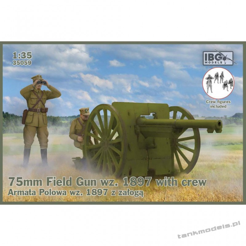75mm Field Gun wz. 1897 with Polish Artillerymen figures - IBG 35059