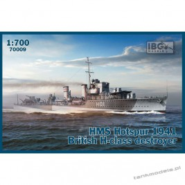 HMS Hotspur 1941 British H-class destroyer - IBG 70009