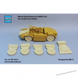 Wheels Road-Pattern for ABM 41/42 (for Italeri) - Tank Models TM 72017