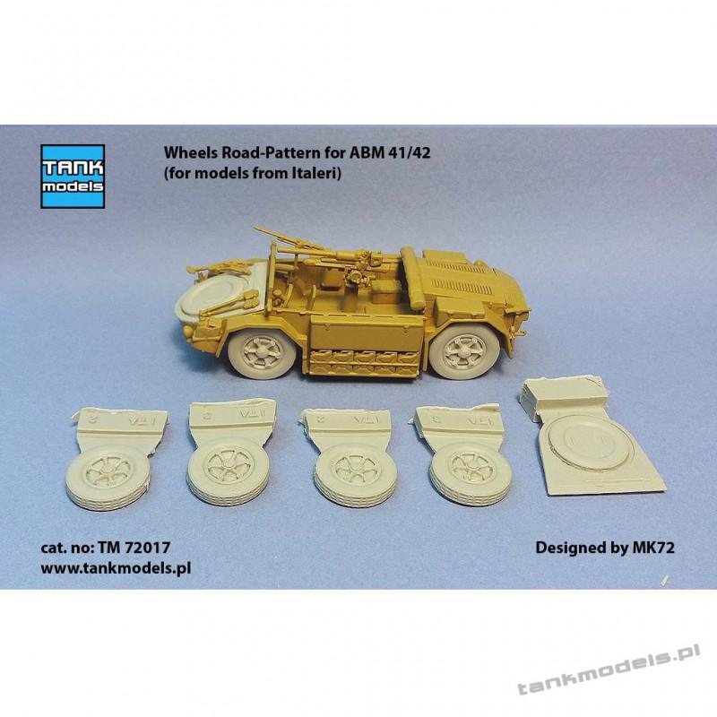 Wheels Road-Pattern for ABM 41/42 (for Italeri) - Tank Models TM 72017