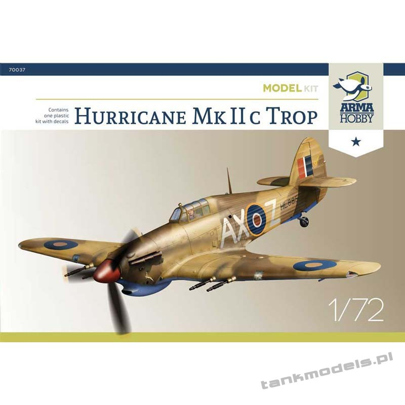 Hurricane Mk IIc Trop (model kit) - Arma Hobby 70037