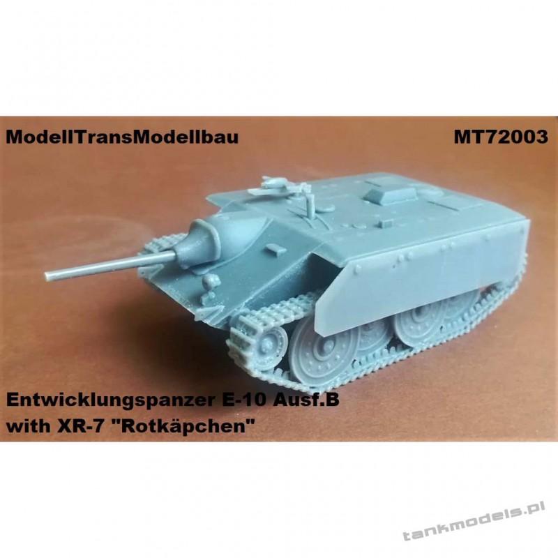 "Entwicklungspanzer E-10 Ausf. B with XR-7 ""Rotkäpchen"" - Modell Trans 72003"