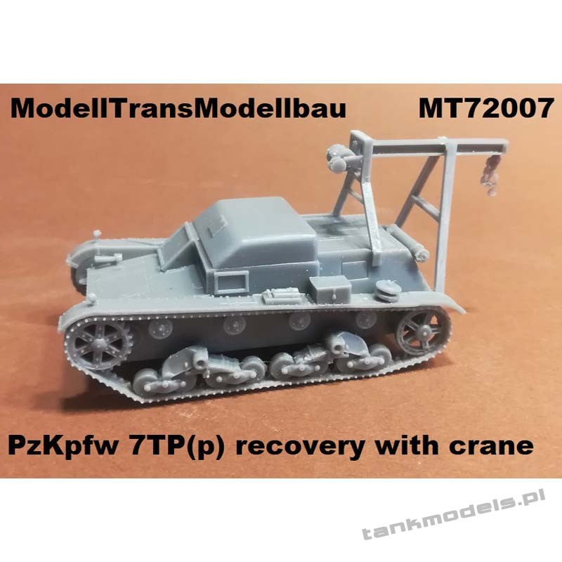 Pz.Kpfw. 7TP (p) recovery with crane - Modell Trans 72007