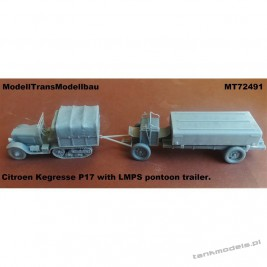 Citroen Kegresse P17 with LMPS pontoon trailer - Modell Trans 72491