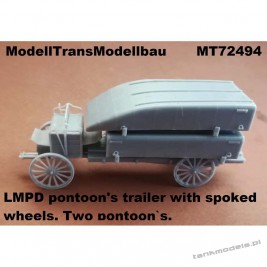 LMPD pontoon's trailer with spoked wheels - Modell Trans 72494