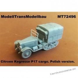 Polish Citroen Kegresse P17 cargo - Modell Trans 72496