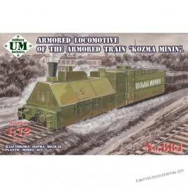 "Armored Lokomotive of the armored train ""Kozma Minin"" - Unimodels 684"