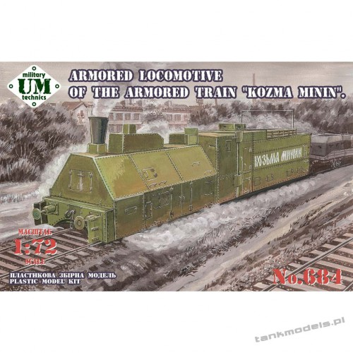 "Armored Lokomotive of the armored train ""Kozma Minin"" - Unimodels 684"